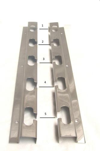 suporte de churrasqueira 100% inox + 4 barras inox 75cm