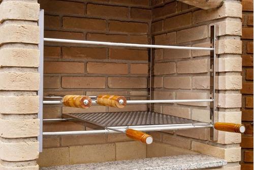 suporte de grelhas - kit para churrasqueira simples