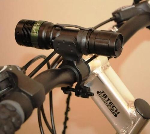suporte de lanterna tática 2 unids guidão bicicleta gira 360