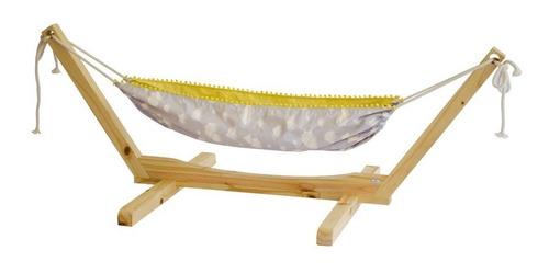 suporte de madeira para rede de descanso infantil