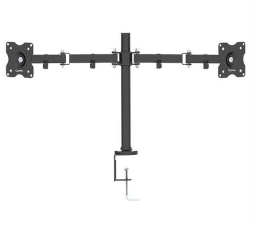 suporte de mesa duplo para 2 monitores lcd led tv blindado
