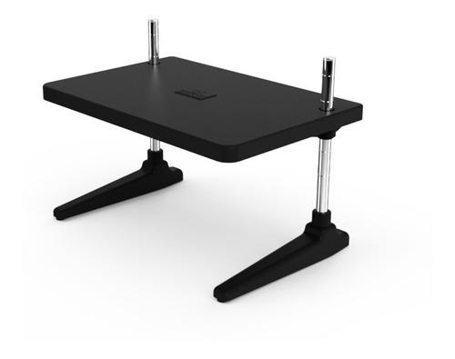 suporte de mesa para monitor base até 25kg aço cromado