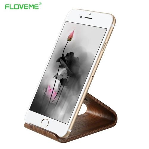suporte de mesa universal celular tablet smartphone madeira