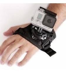 suporte de mão 360 graus luva pulso gopro hero acessórios