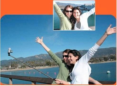 suporte de mão telescópico monopod smartphone celular selfie