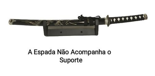 suporte de parede espadas samurai katana wakisashi e tanto