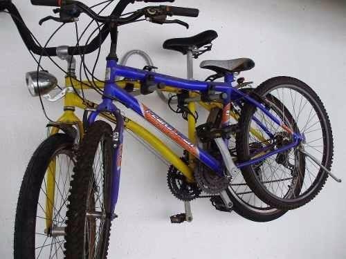 43d173d41 Suporte De Parede Horizontal 2 Bicicletas Com Borrachas - R  51