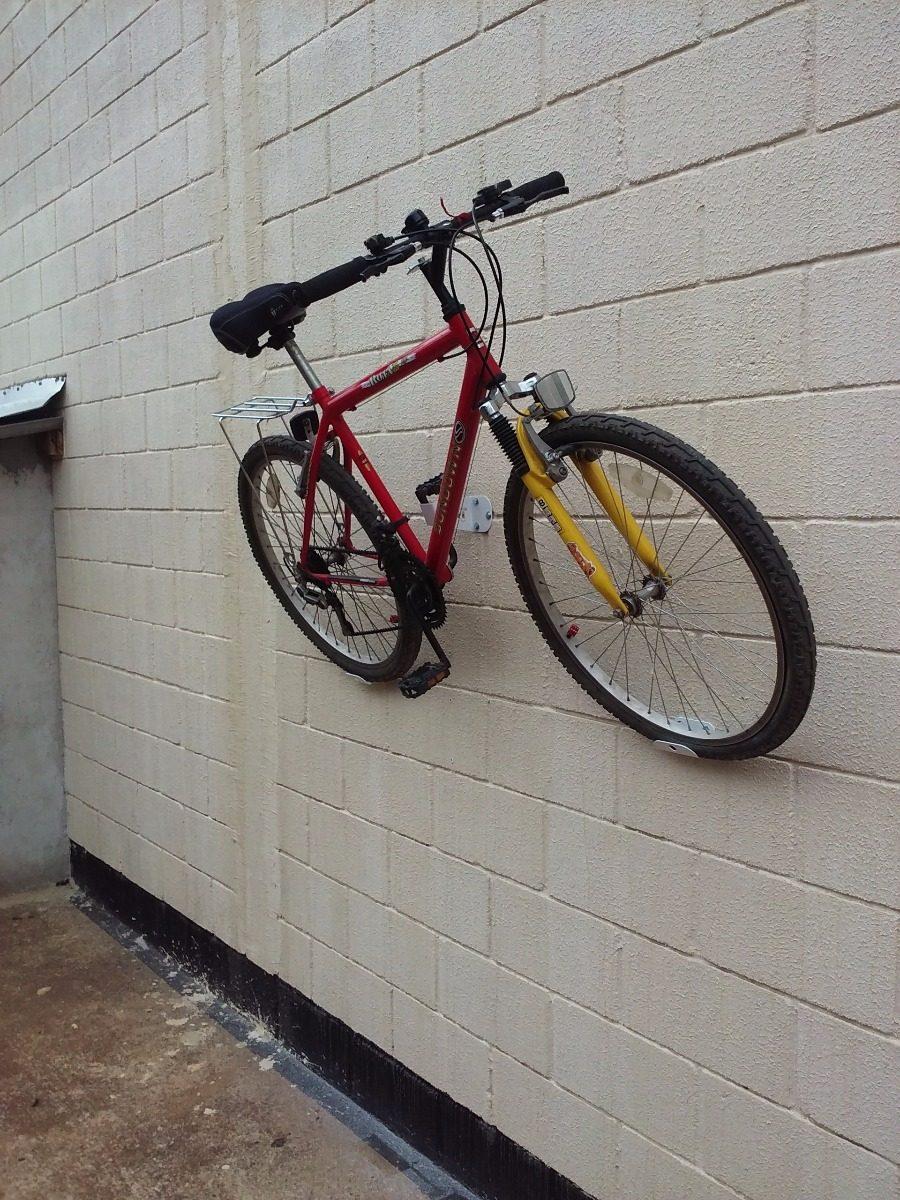 74bcbb77e suporte de parede p  bicicleta apoio horizontal branco. Carregando zoom.