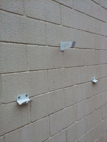 suporte de parede p/ bicicleta apoio horizontal branco