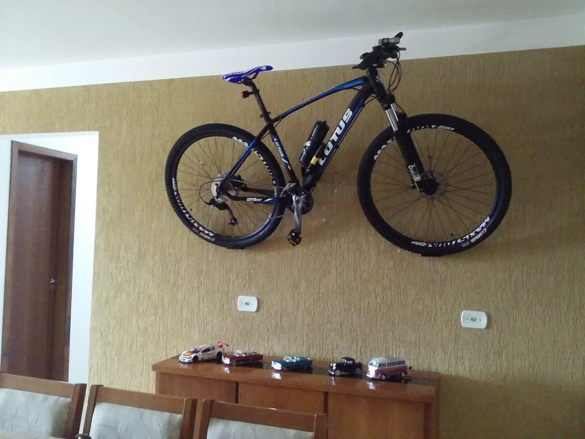 bc1f59a0f suporte de parede p  bicicleta horizontal speed mtb branco. Carregando zoom.