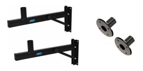 suporte de parede p/ caixa de som g ask ch10 par + 2 copos