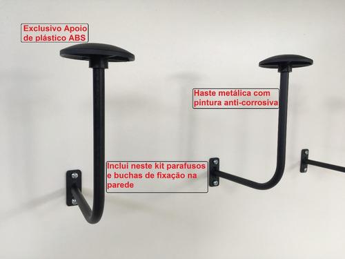 suporte de parede p/ capacetes c/ 2 pçs (desenho exclusivo)