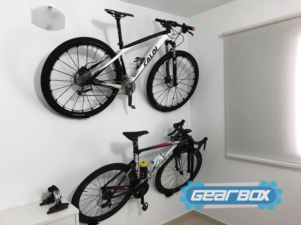 fc425af68 Suporte De Parede Para Bike Mtb Ou Speed Branco Quarto Sala - R  39 ...