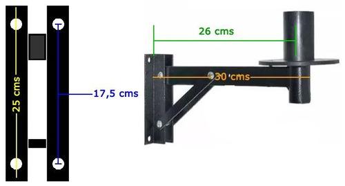 suporte de parede para caixa de som c/ regulagem 4 peças