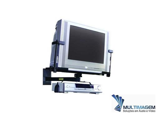 suporte de parede para tv e dvd ou vcr tela plana ou tv slim