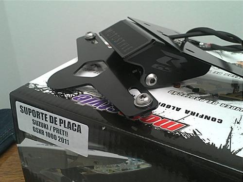 suporte de placa articulado suzuki gsx-r 1000 2011-2014