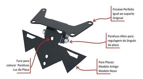 suporte de placa articulado suzuki gsx-r 750 / 1000 srad