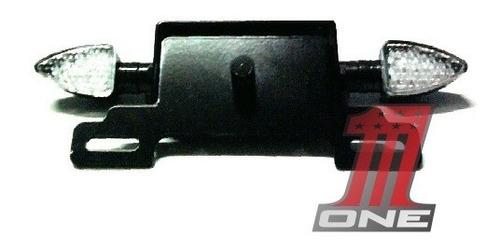 suporte de placa completo xj6 eliminador com pisca e luz led