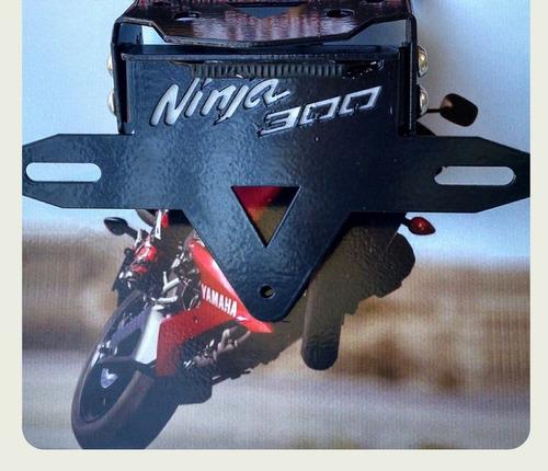 suporte de placa ninja 300 com luz de placa com led