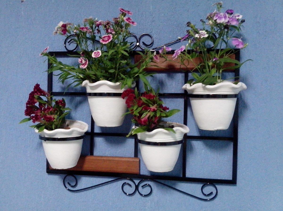 Suporte de planta de parede r 75 00 em mercado livre for Comprar murales para pared