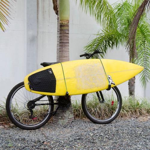 suporte de prancha para bicicleta alumínio ref. inox bon blu