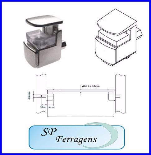 suporte de prateleira para vidro - 4 unidades