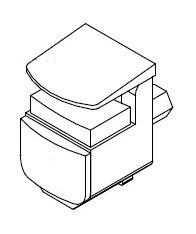 suporte de prateleira para vidro - 50 unidades