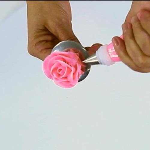 suporte de rosas em inox kit com 10 peças - grande