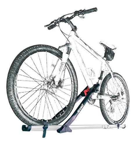 suporte de teto bicicleta transbike eqmax alumínio branco
