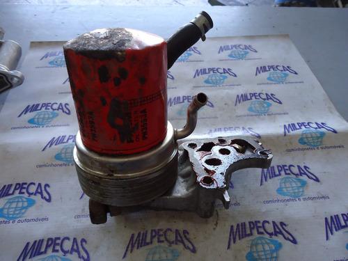 suporte do filtro de oleo com resfriador do motor do eclipse
