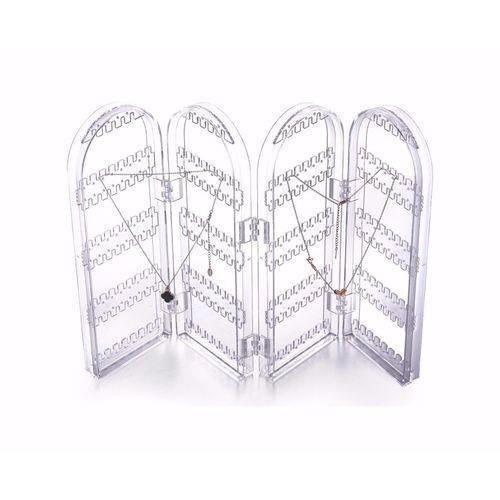 suporte dobravel porta joias brincos 4 compartimentos luxo