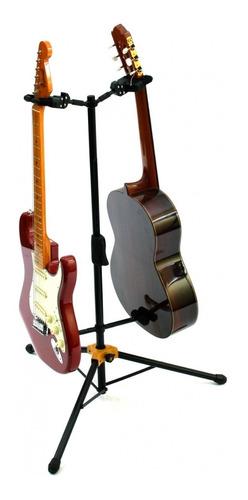 suporte duplo hercules para guitarra, baixo, violão, cavaco
