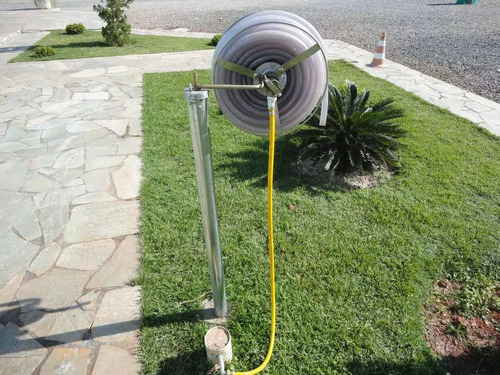 suporte enrolador mangueira 1/2 100 mts. alpalsa mod.1jgl100