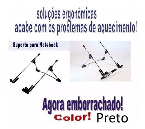suporte ergonômico notebook (nf-e) regulável kit 6 peças