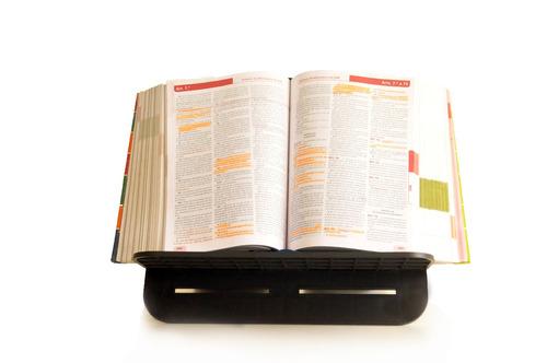 suporte ergonômico para livro e tablet em plástico