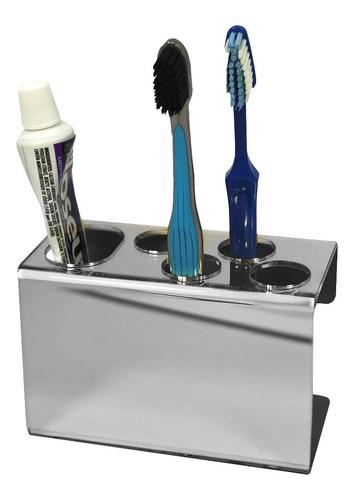 suporte escova de dente espelhado