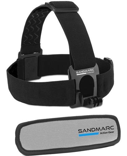 suporte faixa cabeça sandmarc original para gopro sjcam eken