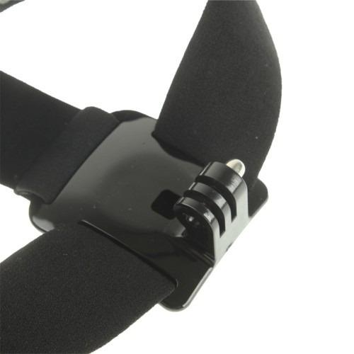suporte faixa elástico cabeça ajustável gopro hd hero câmera