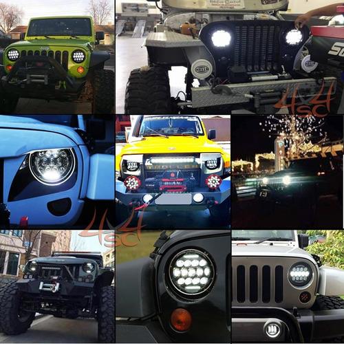 suporte farol 7 polegadas universal led milha jeep wrangler