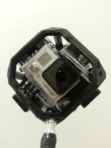 suporte filmagem 360graus goprohero 3/3+/4 skeleton estanque
