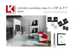 suporte fixo universal tvs lcd / plasma / led slim 3cm