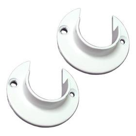 Suporte Flange Alumínio Para Varão De Cortina 28mm 1 Par
