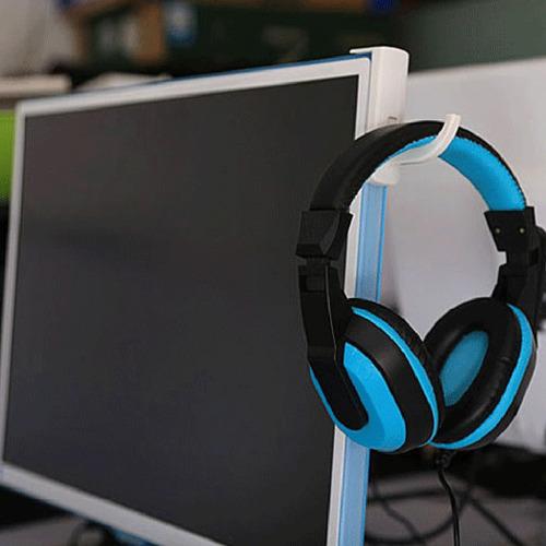 suporte fone de ouvido headset headphone - acessório branco