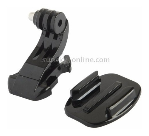 suporte frontal de capacete base adaptador e adesivo3m gopro