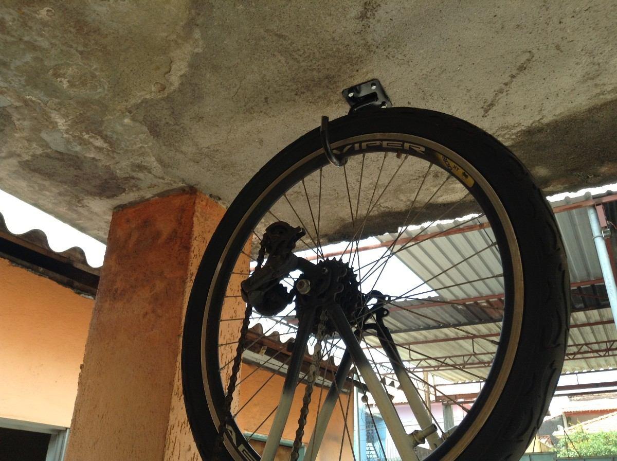Suporte gancho para pendurar bicicleta teto r 8 00 em - Gancho bicicleta pared ...
