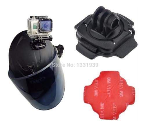 suporte gopro 360º capacete moto bike adesivo 3m gopro hero