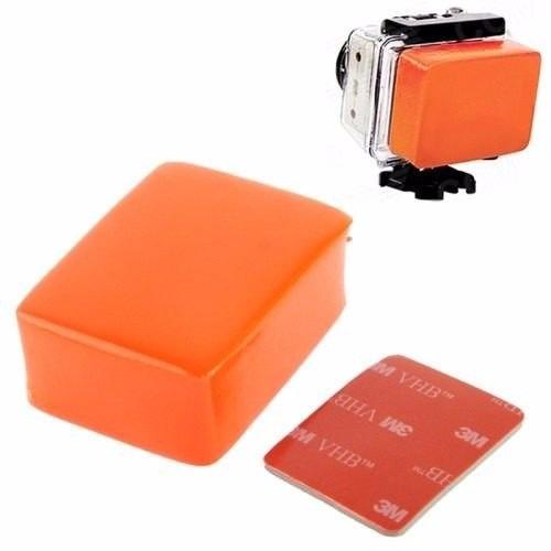 suporte gopro hero caixa protetora+boia flutuante+adesivo 3m