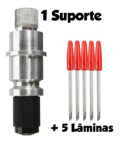 suporte graphtec cb09 + 5 lâminas compatível silhouette