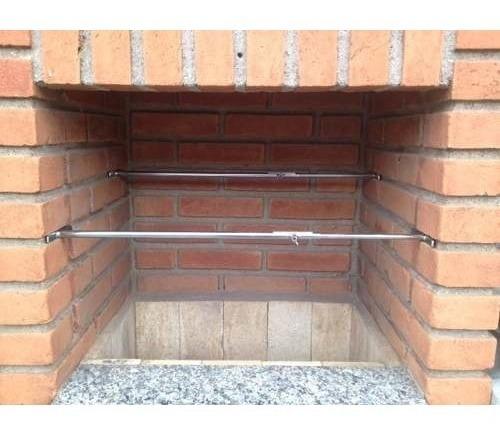 suporte grelha churrasqueira reguláve 51 x 98 cm + brinde