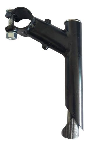 suporte guidão mtb 25,4mm aço preto expander 25,4 bicicleta